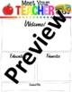 Meet The Teacher Letter Editable!