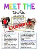 Meet The Teacher Letter - Editable!