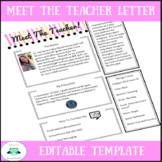 Meet The Teacher Letter Template-Editable