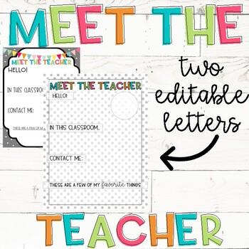 Meet The Teacher Letter Template Free from ecdn.teacherspayteachers.com