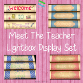 Meet The Teacher Lightbox Display Set