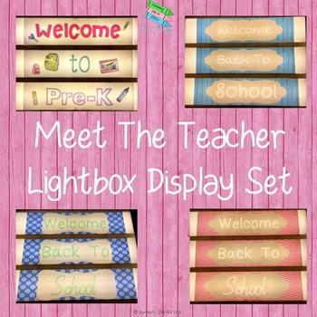Meet The Teacher Lightbox Display Set