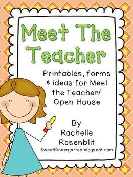 Meet The Teacher Madness {Editable Packet}