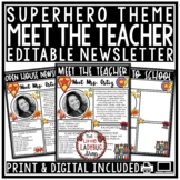 Superhero Meet the Teacher Template Editable: Back to Scho