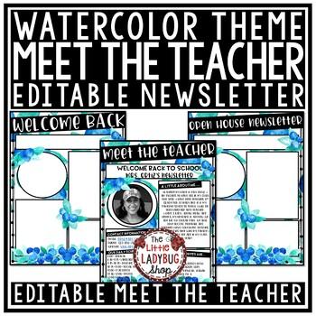 Meet The Teacher Template Editable, Back to School- Open House Form