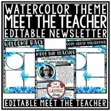 Meet The Teacher Template Editable, Back to School- Meet the Teacher Letter