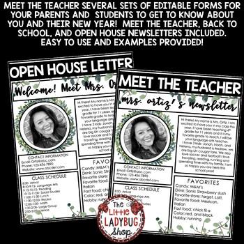 Meet The Teacher Newsletter Editable- Vintage Farmhouse Classroom Theme