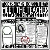 Farmhouse Meet The Teacher Template Editable: Back to School Night, Open House
