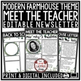 Farmhouse Meet The Teacher Template Editable: Back to Scho