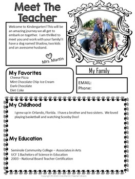 Meet The Teacher Newsletter Editable Powerpoint