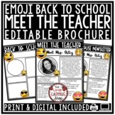 Meet The Teacher Newsletter Editable- Emoji Back to School Forms