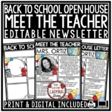 Welcome Back to School Letters Editable: Virtual Meet The