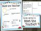 Meet The Teacher Newsletter and Postcards - Editable