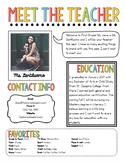Meet The Teacher Newsletter Template