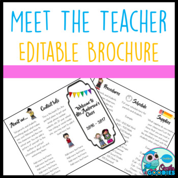 Meet The Teacher Night Brochure - EDITABLE