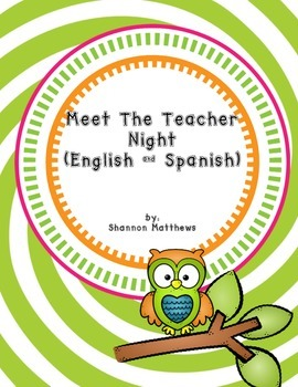 Meet The Teacher Night (English and Spanish)