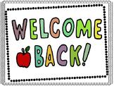 Welcome Sign Freebie