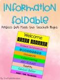 Meet The Teacher Night Information Foldable (editable)