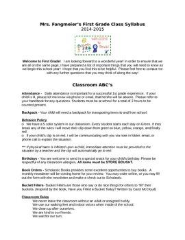 Meet The Teacher Night Packet