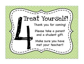 Meet The Teacher Night Parent Directions