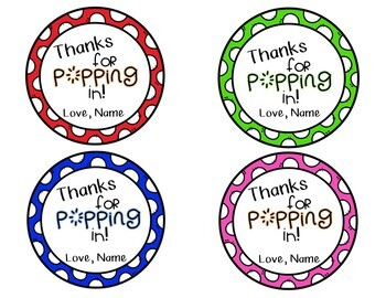 Meet The Teacher Night - Parent Treat Tags