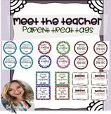 Meet The Teacher Night - Parent Treat Tags