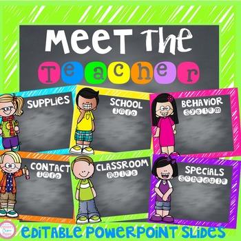 Meet The Teacher Night Powerpoint (Editable)