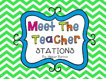 Meet The Teacher Night Stations (Editable Powerpoint)