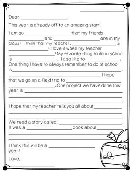 Meet The Teacher Night Letters