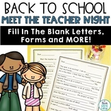 Meet The Teacher Night Letters