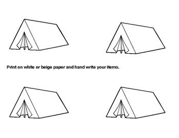 Camping Theme Meet The Teacher / Open House Bundle Editable!