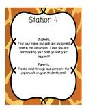 Meet The Teacher/ Open House Classroom Stations