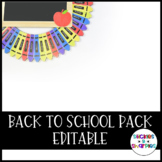 Back to School Pack (Editable)
