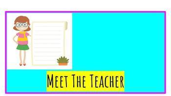 Meet The Teacher Packet Editable