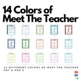 Meet The Teacher Pages 14 Colors