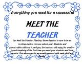 Meet The Teacher Planting Themed Packet