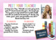 Meet The Teacher Postcards {EDITABLE}
