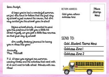 Meet The Teacher Postcard / Letter {EDITABLE}