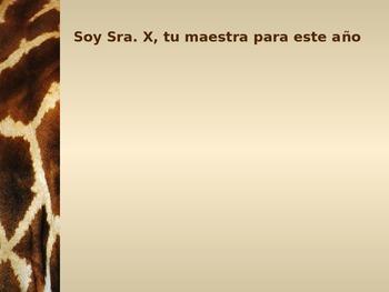 Meet The Teacher PowerPoint Spanish