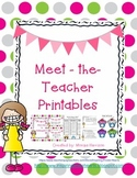 Meet The Teacher Printables