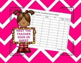 Meet The Teacher Sign In Sheet (Back To School Freebie!)