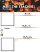 Meet The Teacher - Orange Flowers