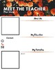 Meet The Teacher - Orange Flowers