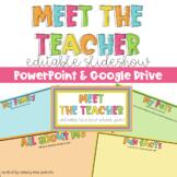 Meet The Teacher Slideshow -Editable and Google Slides