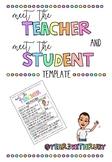 Meet The Teacher/Student Flyer
