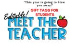 Meet The Teacher Student Gift Tags