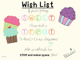 Meet The Teacher Sweet Treat Wishlist-Editable