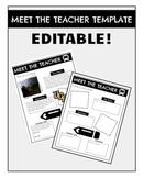 Meet The Teacher Template | EDITABLE