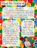 Eric Carle Meet The Teacher Template **Editable**