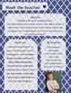 Blue Moroccan Meet The Teacher Template **Editable**